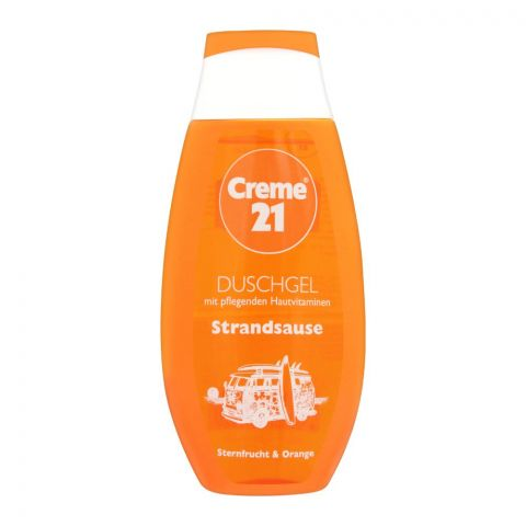 Creme 21 Beach Sauce Starfruit & Orange Shower Gel, 250ml