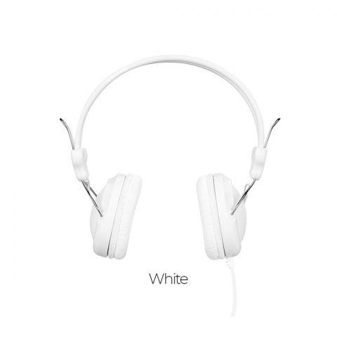 Hoco W5 Digital Stereo Headphone, White