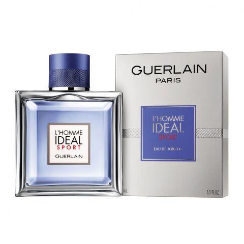 Guerlain L'Homme Ideal Sport Eau De Toilette, Fragrance For Men, 100ml