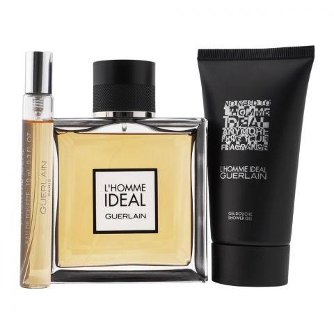 Guerlain L'Homme Ideal Gift Set, EDT 100ml + EDT 10ml + Shower Gel 75ml