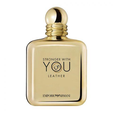 Emporio Armani Stronger With You Leather Pour Homme Eau De Parfum, Fragrance For Men, 100ml