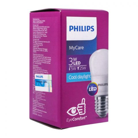Philips Mycare LED Bulb, 3W ,E27, Cool Daylight