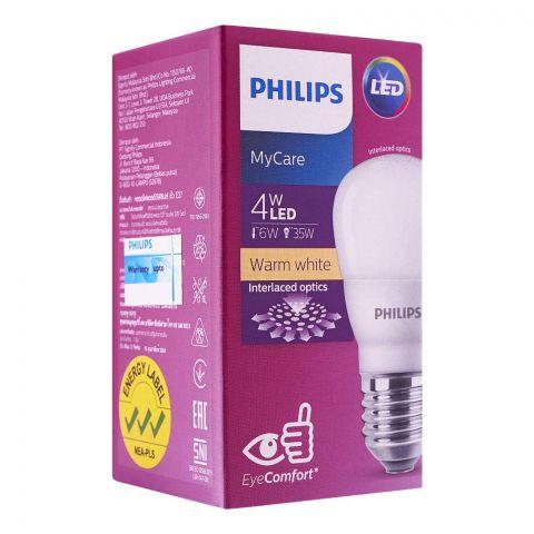 Philips Mycare LED Bulb, 4W, E27 Cap, Warm White