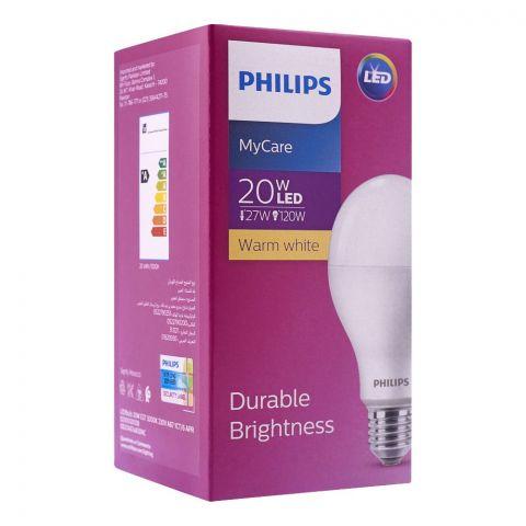 Philips Mycare LED Bulb, 20W, E27 Cap, Warm White