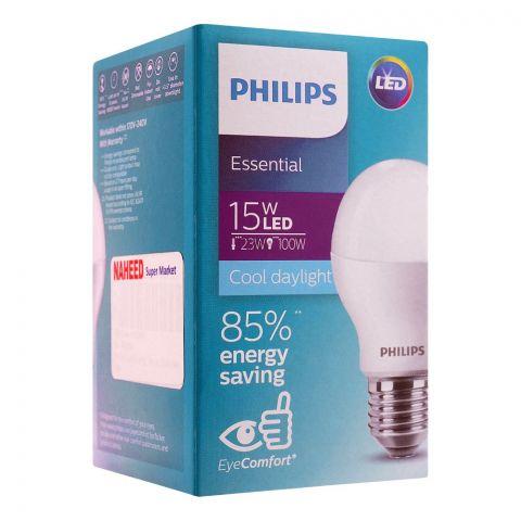Philips Essential LED Bulb, 15W, E27 Cap, Cool Daylight