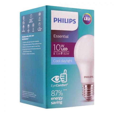 Philips Essential LED Bulb, 10W, E27 Cap, Cool Daylight