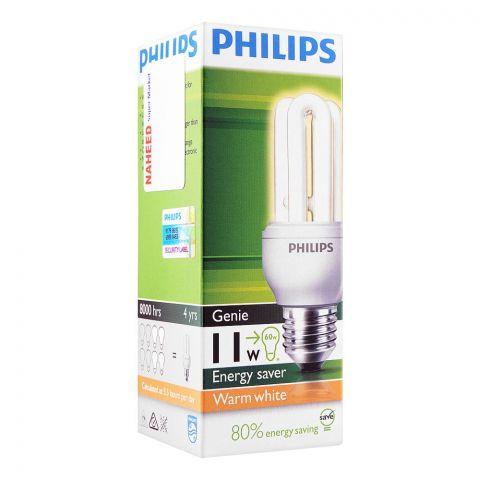 Philips Genie Energy Saver Bulb, 11W, E27 Cap, Warm White