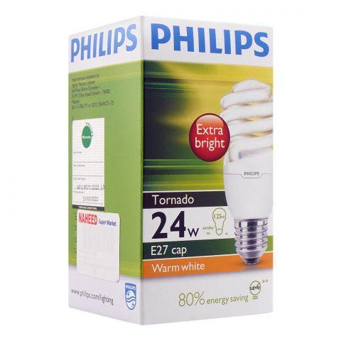 Philips Tornado Energy Saver Bulb, 24W, E27 Cap, Warm White