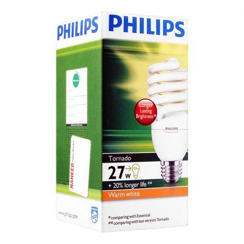 Philips Tornado Energy Saver Bulb, 27W, E27 Cap, Warm White