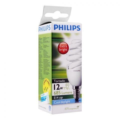 Philips Tornado Energy Saver Bulb, 12W, E14 Cap, Cool Daylight
