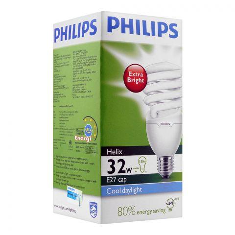 Philips Helix Energy Saver Bulb, 32W, E27 Cap, Putih