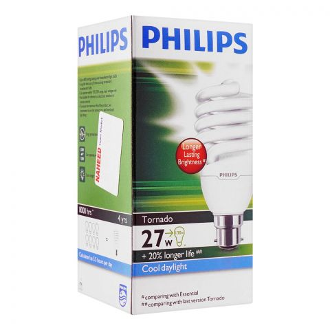 Philips Helix Energy Saver Bulb, 27W, B22 Cap, Cool Daylight