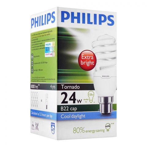Philips Tornado Energy Saver Bulb 24W, B22 Cap, Cool Daylight