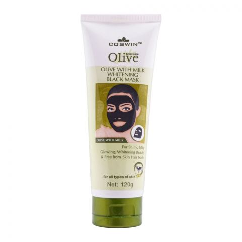 Coswin Olive With Milk Whitening Facial Black Mask, 120g