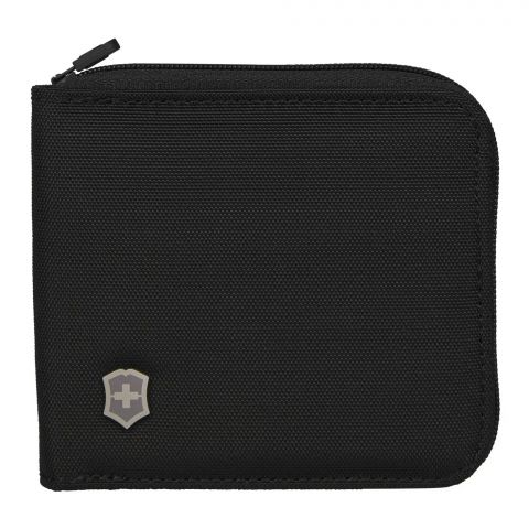 Victorinox Zip-Around Wallet With RFID Protection, Black, 610395
