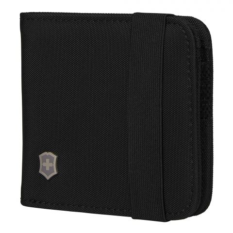 Victorinox Tri-Fold Wallet With RFID Protection, Black, 610394