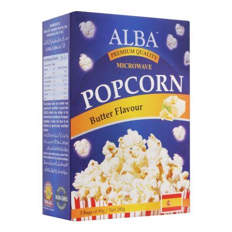 Alba Popcorn, Butter Flavour, 3x80g