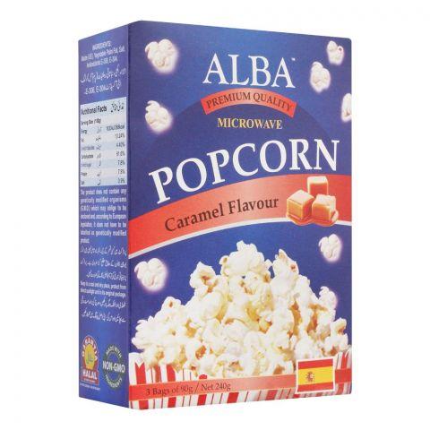 Alba Popcorn, Caramel Flavour, 3x80g