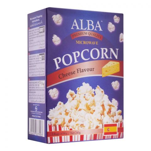 Alba Popcorn, Cheese Flavour, 3x80g