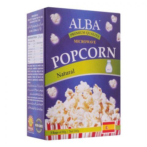 Alba Popcorn, Natural, 3x80g