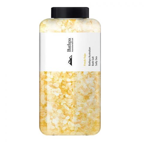 Bathpa Australian Bath Salt, Fresh Yuja, 1200g