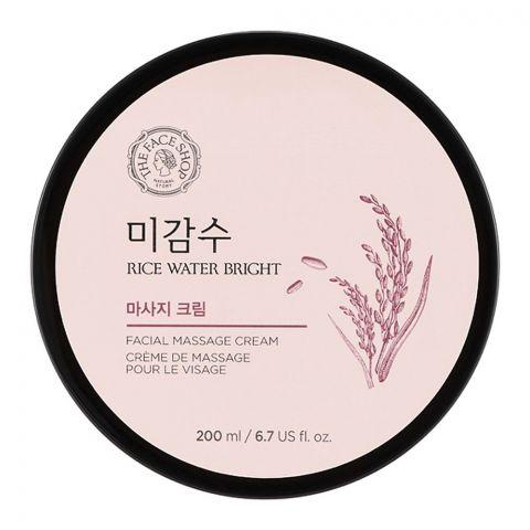 The Faceshop Rice Water Bright Massage Cream, 200ml