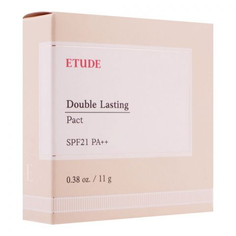 Etude House Double Lasting Pact, SPF 21 PA++, Neutral Beige, 11g