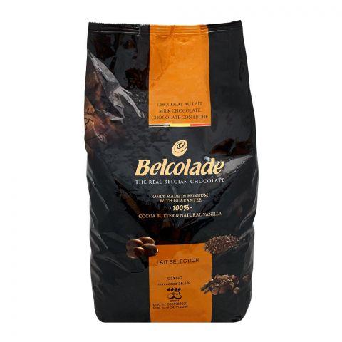 Belcolade Belgian Real Milk Chocolate Drops, 5 KG