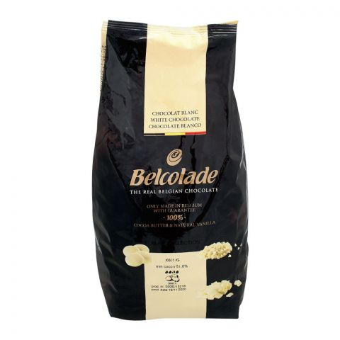 Belcolade Belgian Real White Chocolate Drops, 5 KG