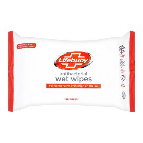 Lifebuoy Antibacterial Wet Wipes, 48-Pack