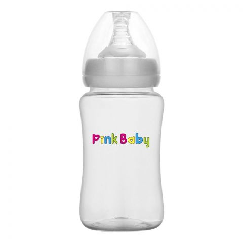 Pink Baby Superior-PP Wide Neck Feeding Bottle, Large Flow, 6m+, 240ml, WN-104