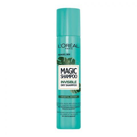 L'Oreal Paris Magic Invisible Dry Shampoo, Vegetal Boost, 200ml