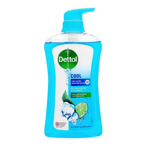Dettol Cool Icy Mint & Bergamot Antibacterial Body Wash, 625ml