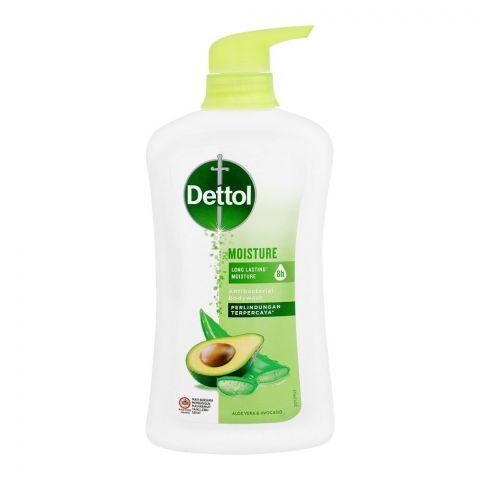 Dettol Moisture Aloe Vera & Avocado Antibacterial Body Wash, 625ml
