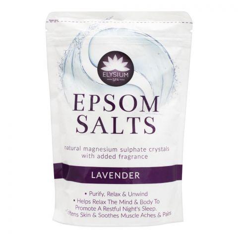 Elysium Spa Epsom Bath Salt, Lavender, 450g