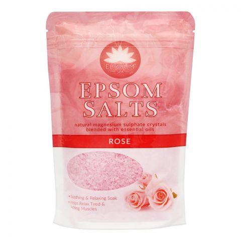 Elysium Spa Epsom Bath Salt, Rose, 450g