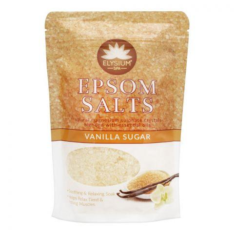 Elysium Spa Epsom Bath Salt, Vanilla Sugar, 450g