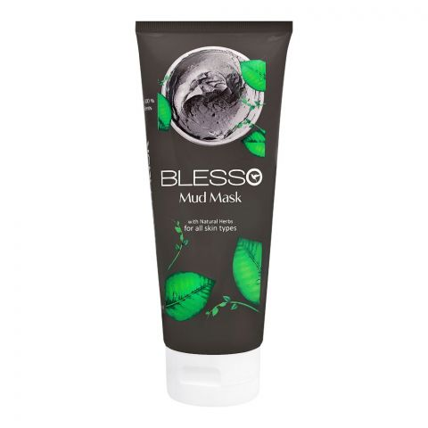 Blesso Mud Face Mask, All Skin Types, 150ml