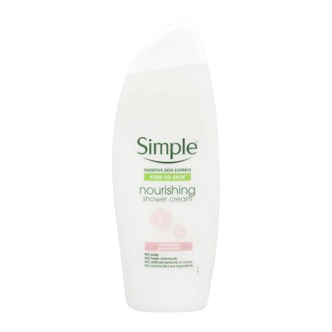 Simple Kind To Skin Natural Geraniu Oil Nourishing Shower Cream, Soap Free, 500ml