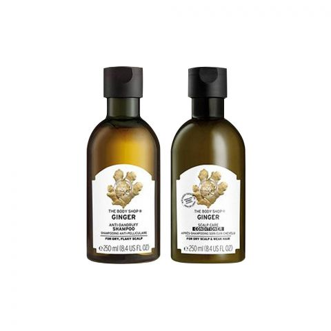 The Body Shop Shake & Swish Ginger Haircare Duo Gift, Shampoo + Conditioner, 97782