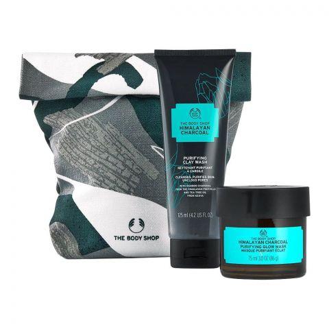The Body Shop Himalayan Charcoal Power Duo Gift, Clay Wash + Glow Mask, 97790