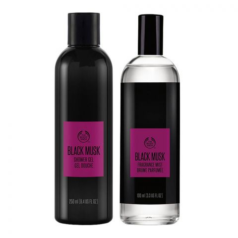 The Body Shop Black Musk Duo Gift Box, Fragrance Mist + Shower Gel, 97797
