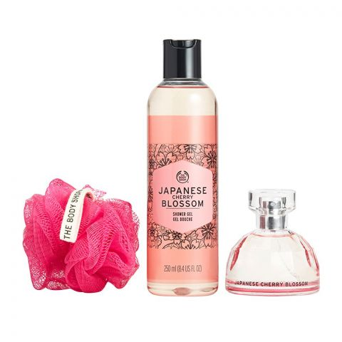 The Body Shop Japanese Cherry Blossom Essential Selection Gift Set, Shower Gel + EDT, 97801