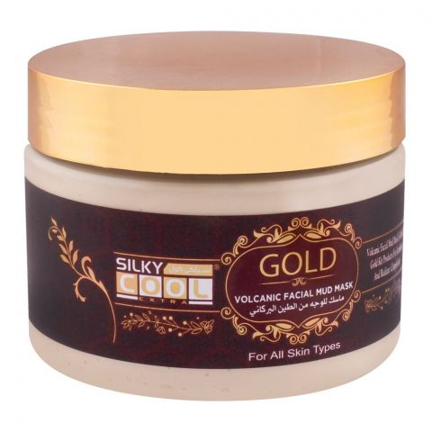 Silky Cool Gold Volcanic Facial Mud Mask, All Skin Types, 350ml