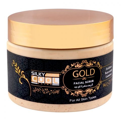 Silky Cool Gold Facial Scrub, All Skin Types, 350ml