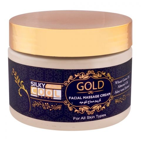 Silky Cool Gold Facial Massage Cream, All Skin Types, 350ml