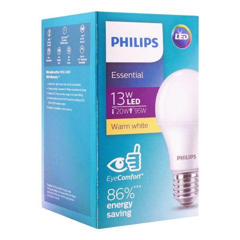 Philips Essential LED Bulb, 13W, E27, Warm White