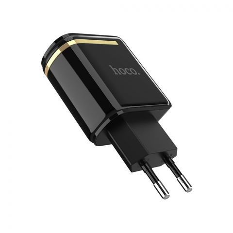 Hoco 2-USB Charger, Black, C39A