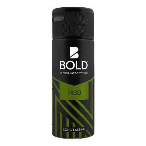 Bold Neo Long Lasting Deodorant Body Spray, For Men, 150ml