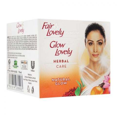 Glow & Lovely Herbal Care Natural Glow Fairness Cream, 70ml